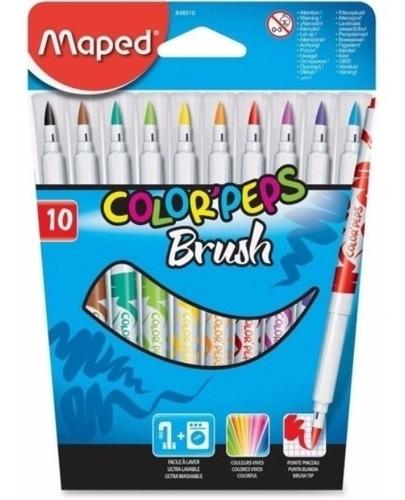 marcadores brush punta pincel rotulador maped x10 848010 edu