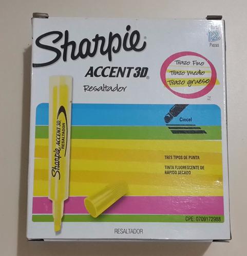marcadores caja 12 und  sharpie accent 3d !! tienda virtual