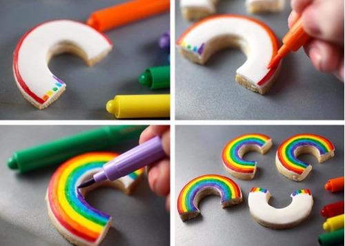marcadores comestibles multicolores para repostería