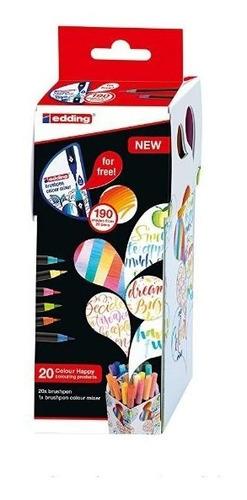 marcadores edding color happy box ch20+1 rotuladores