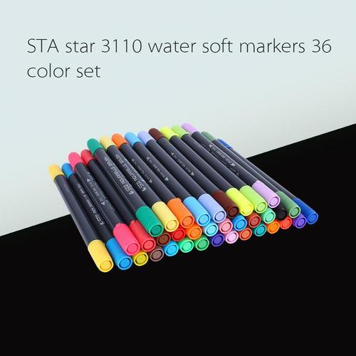 marcadores estilo acuarela sta p/arte y dibujo, 36 colores