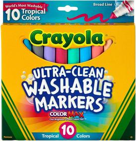 Crayola ultra-limpios Marcadores de línea fina-Colores Clásicos 10//pkg