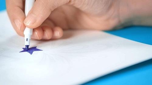 marcadores maped colorpeps glitter x8 brillo educando