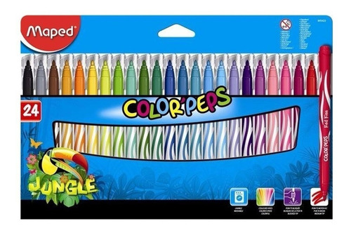 marcadores maped colorpeps jungle x24