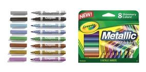 Conde 8-Marcadores De Colores Nuevo Crayola metálico marcadores