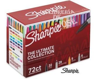 marcadores permanentes sharpie 72 piezas