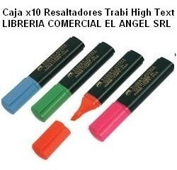 marcadores resaltadores trabi colores fluo x10 unidades high