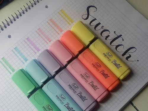 marcadores resaltadores trabi colores pastel x10 unidades