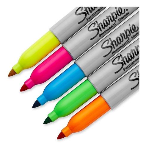 marcadores sharpie fino x 5 neon