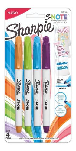 marcadores sharpie x4 snotes chisel resaltador subraya