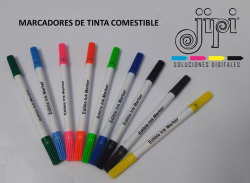 marcadores tinta comestible x10 colores