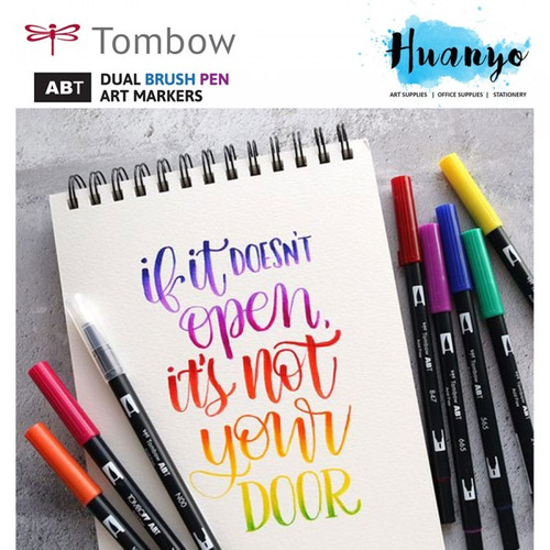 marcadores tombow dual brush