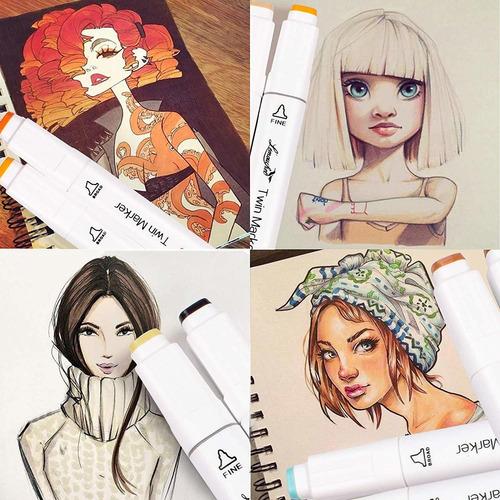 marcadores touchfive 168pc full color sketch de arte