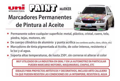 marcadores uni paint px 20 pintura al aceite oleo permenente