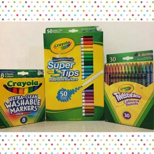 marcadores y colores crayola de 50-30 y 8 unidades y varieda