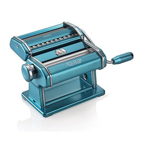 marcato atlas pasta máquina, de acero inoxidable, azul claro