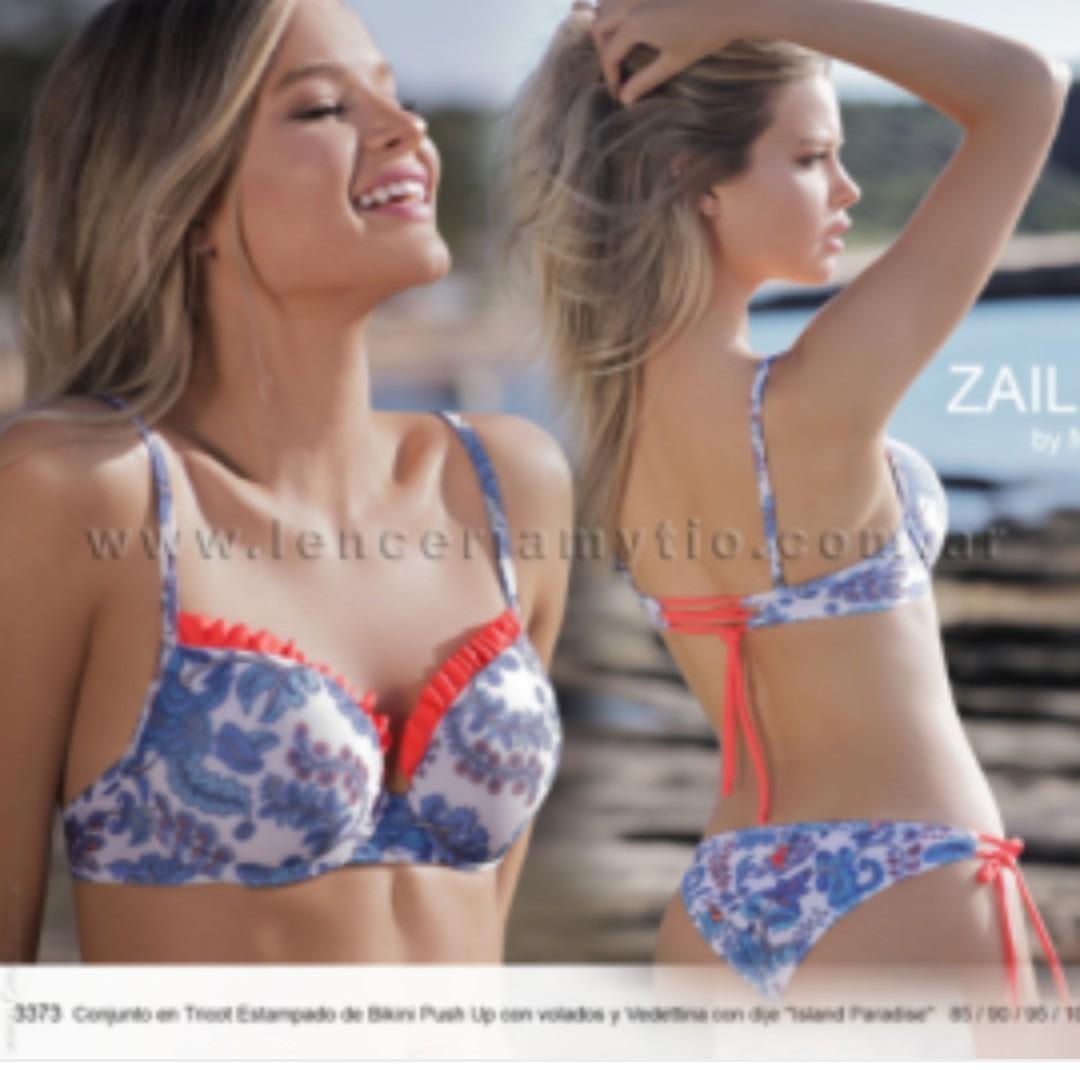 d4a872f407c4 Marcela Koury 3373 Tricot Estampado De Bikini Push Up
