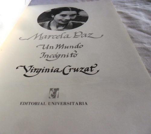 marcela paz un mundo incógnito, por virginia cruzat