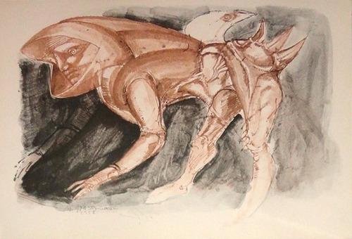 marcelo grassmann - litogravura - desenho - 1966 - 3s arte