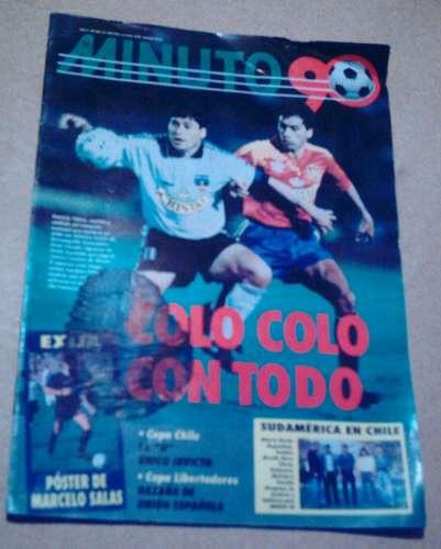 marcelo salas 1994 (poster gigante) - con revista minuto 90