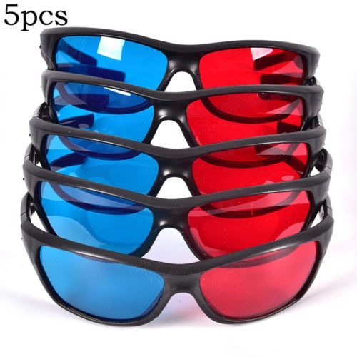 Marco 3d Rojo Azul Gafas Para Dimensional Anaglifo Película ...