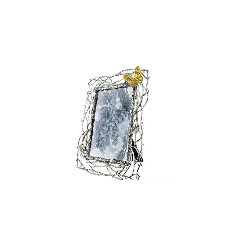 Marco 4x6 Oro Vides De Mariposas Y Peltre - $ 21,136.95 en Mercado Libre