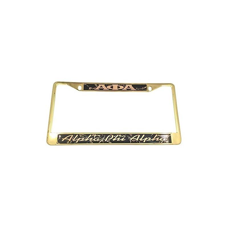 Marco Alpha Phi Alpha Gold Matrícula Con Letras Cursivas Y P ...