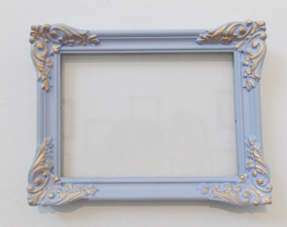 Marco antiguo moldura yeso reciclado lirio romantico for Marcos vidrio para cuadros
