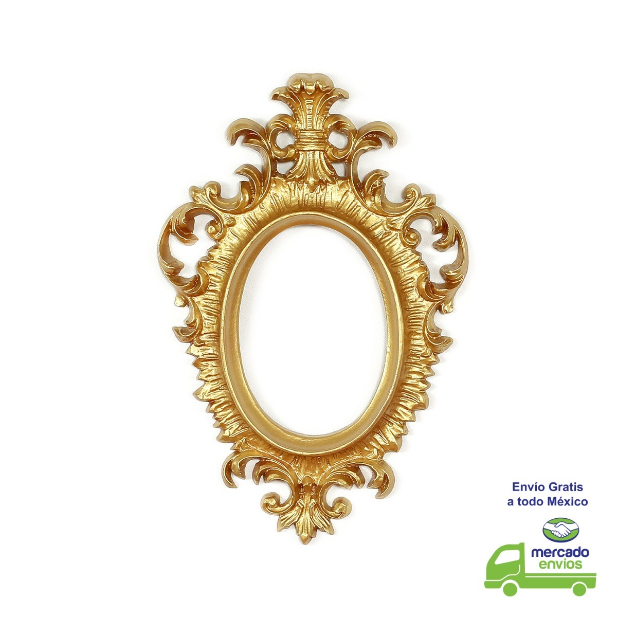 Marco barroco ovalado fabricado en resina 33 x 21 5 en mercado libre - Espejos de resina ...
