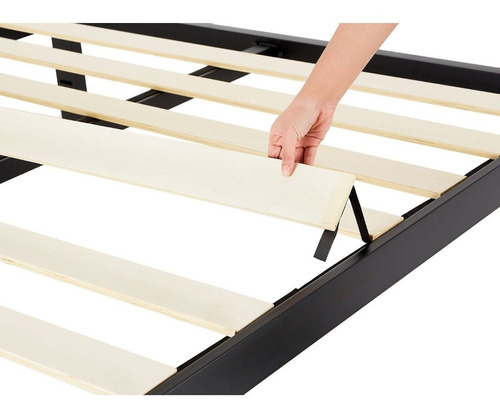 marco base plataforma de cama de lujo negro tamaño king