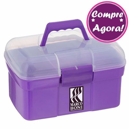 marco boni maleta manicure roxa - brinde porta acetona 80ml