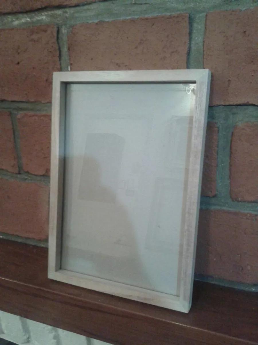 Marco Box Cajon 2cm 20x25 Madera Kiri Natural Vidrio Carton - $ 97 ...