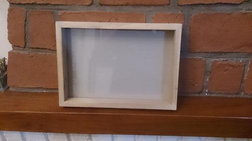 Marco Box Cajon 4.5cm 30x42 A3 Madera Kiri Natural C/ Vidrio - $ 180 ...