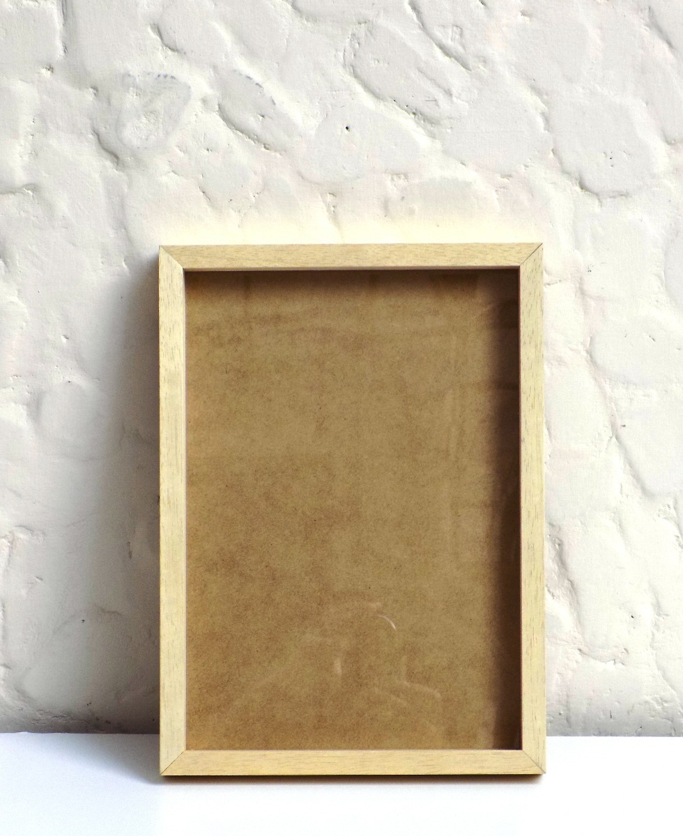 Marco Box De 20x25 En Madera Marupá Natural - $ 200,00 en Mercado Libre