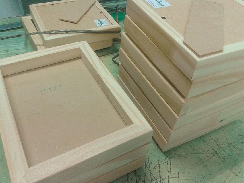 Marco Box De Madera 15x15 Cm - $ 110,00 en Mercado Libre
