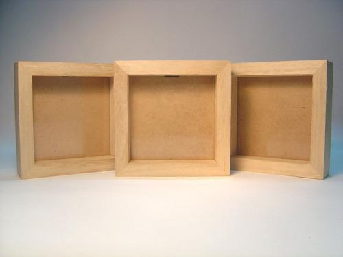 marco  box  en madera natural  kiri 15x21