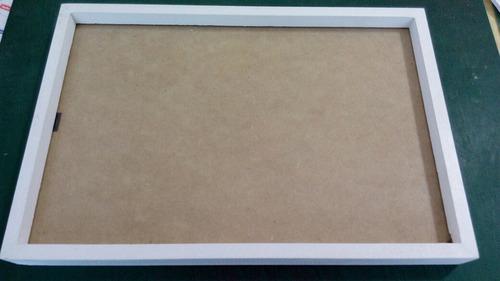 marco box en madera natural ( kiri )  15x21