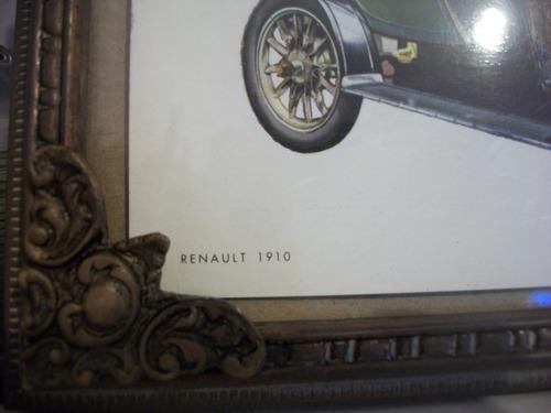 marco bronce muy antiguo lamina cachila renault 1910