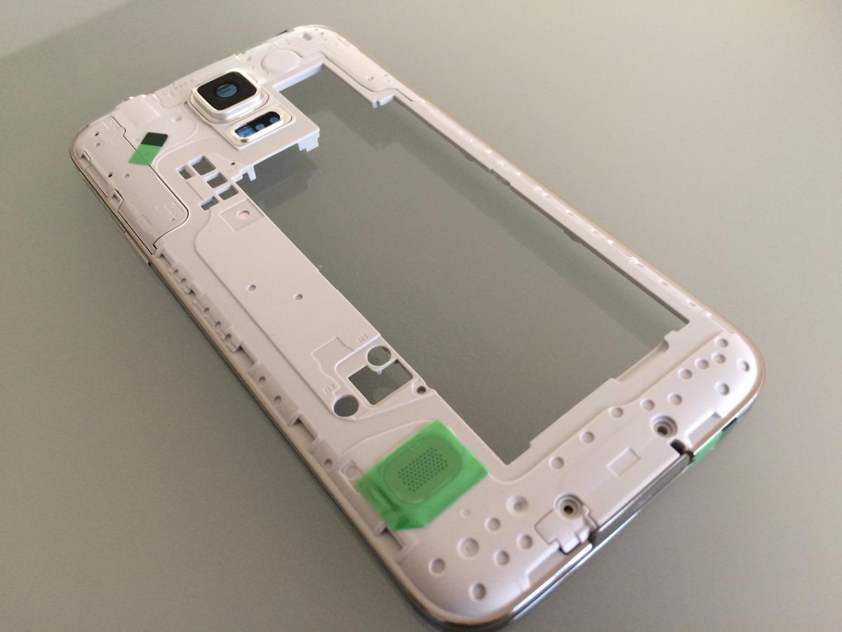 Marco Central Chasis Galaxy S5 G900 Plata - $ 298.00 en Mercado Libre
