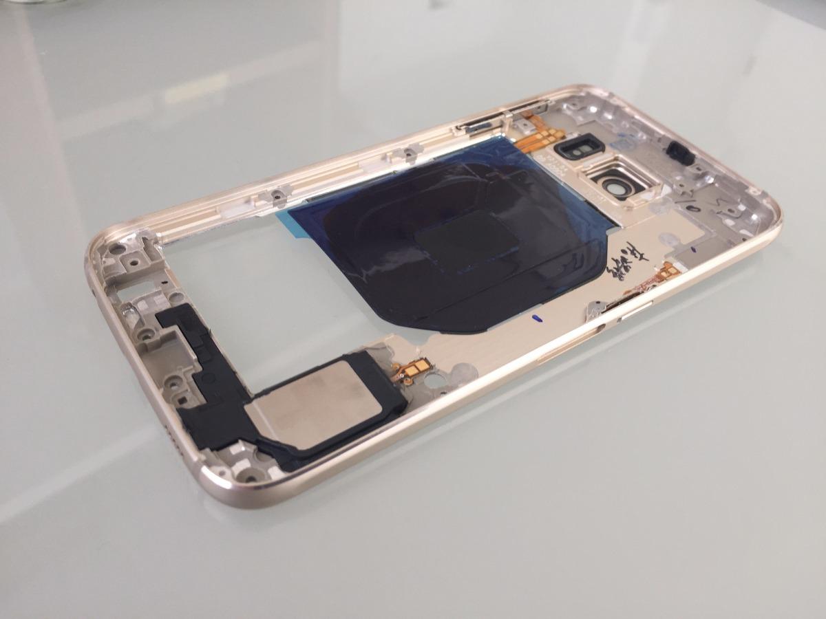 Marco Central Chasis Galaxy S6 Edge Dorado Con Instalacion ...