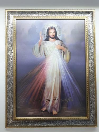 marco con imagen del señor de la misericordia
