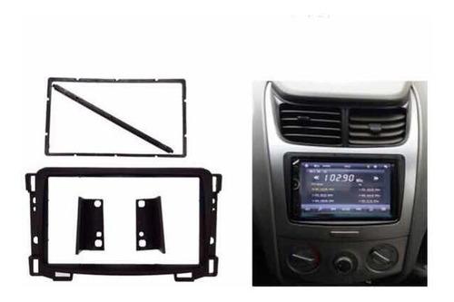 marco consola  bisel radio 2din chevrolet sail