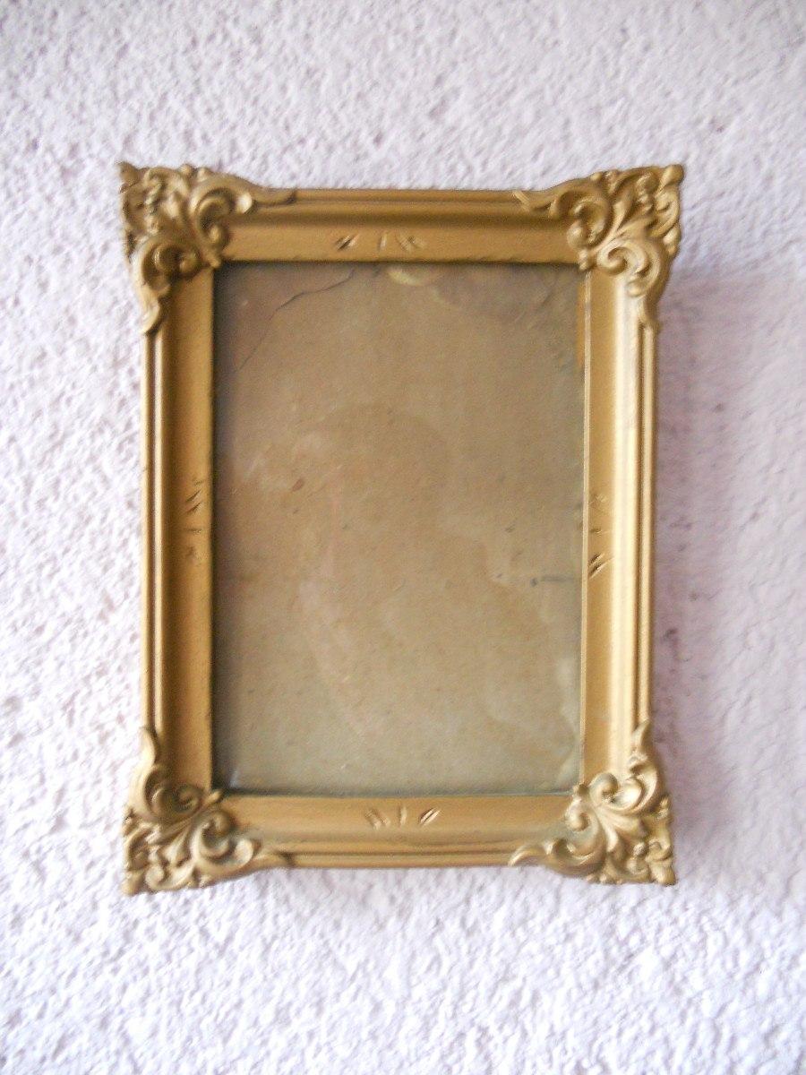 Marco Cuadro Antiguo Madera Vidrio De 21 16 5