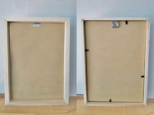 marco cuadro box 15x21, portarretrato madera