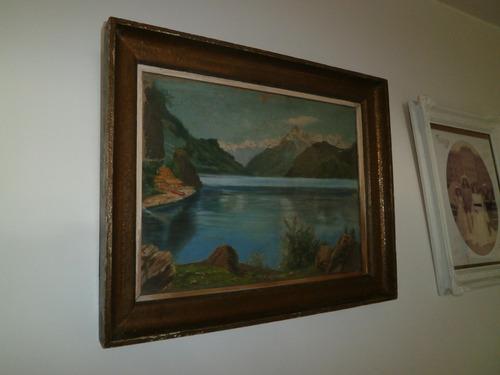 Marco cuadro con vidrio antiguo gran tama o u s 120 00 for Marco cuadro antiguo