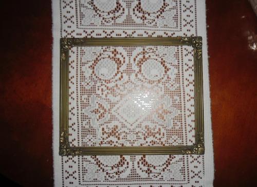 marco cuadro dorado antigüo sin vidrio 32 x 26