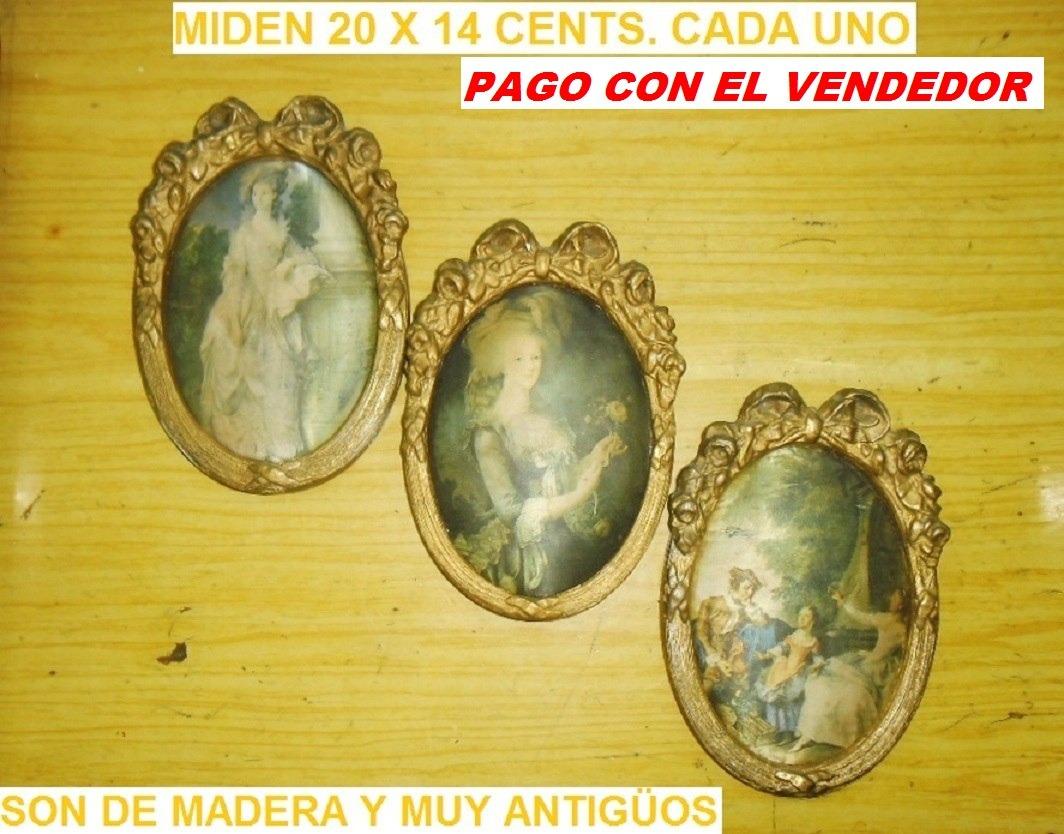 Marco Cuadro Dorado Camafeo Antigüos 20x14 Precio Unitario - $ 330 ...