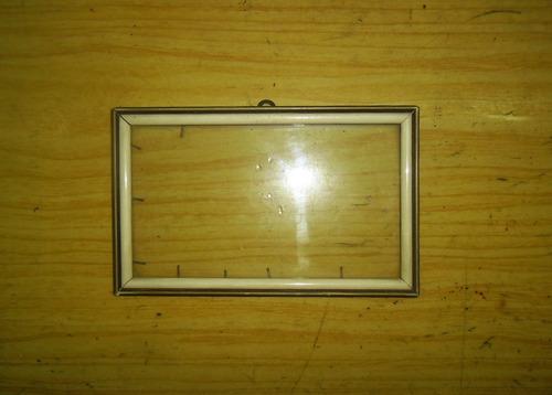 marco cuadro dorado y manteca con vidrio original