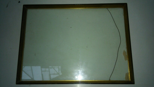 marco cuadro fotos con vidrio doble. grande. 58 x 43