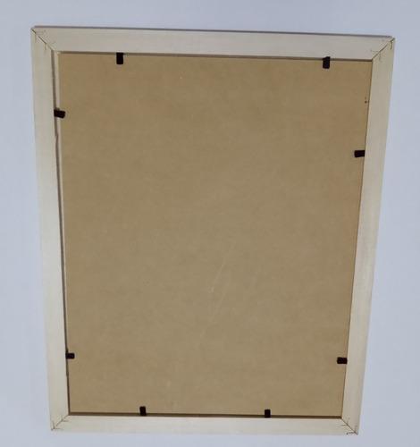 marco cuadro p/ diploma 15x21.cm. madera natural con vidrio